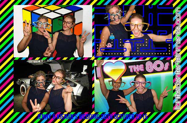 80s theme photo booth hire