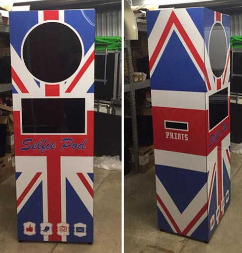 Union Jack Selfie Pod Buy British Exhibition Stand Attraction.