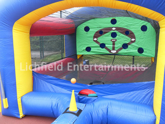 Inflatable Baseball Target Game for hire from Lichfield Entertainments