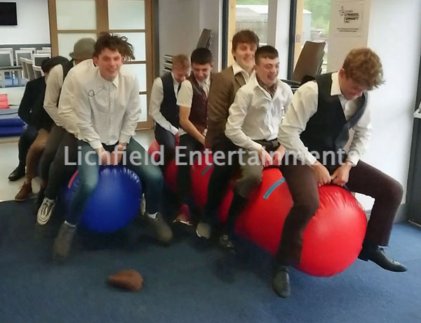 Team Bouncing Tubes race game hire for team building events