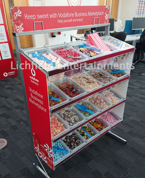 Branded Pick and Mix Stand Hire.