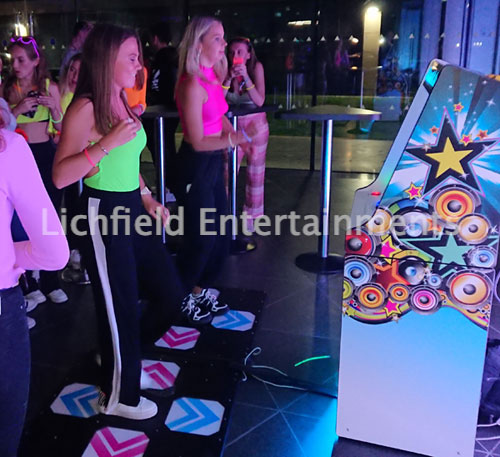 Christmas Dance Machine for hire from Lichfield Entertainments UK