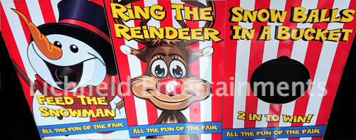 Christmas Side Stall party games for hire from Lichfield Entertainments UK