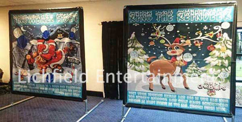 Christmas theme Side Stall games for hire from Lichfield Entertainments UK