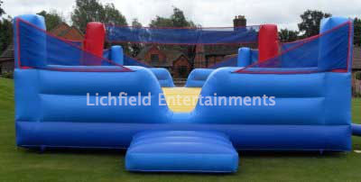 Company sports day games hire - Volleyball.
