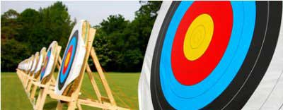 Company sports day games hire - Archery.