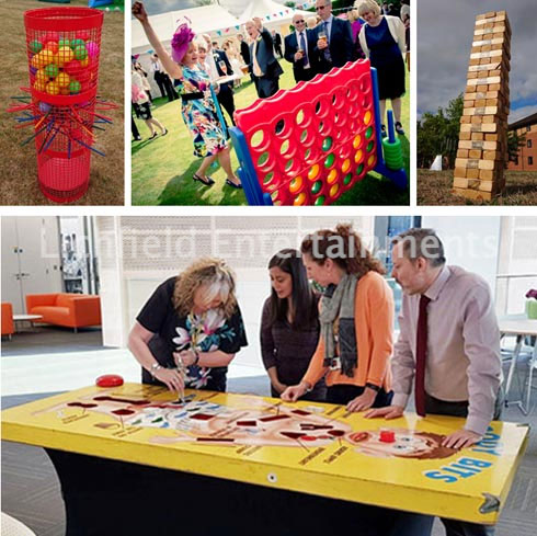 Giant Games entertainment for your conference entertainment from Lichfield Entertainments UK