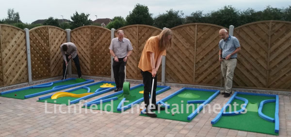 Company sports day games hire - Crazy Golf.