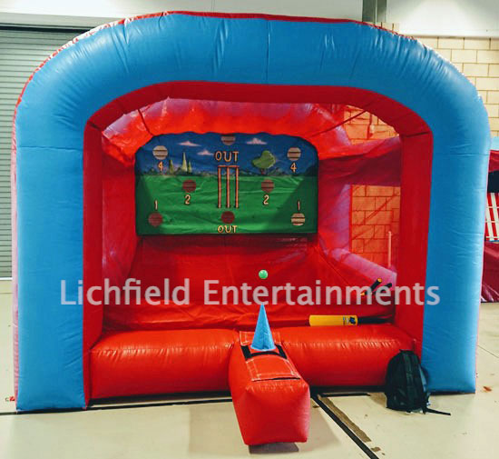 Inflatable Cricket Batting Game for hire from Lichfield Entertainments