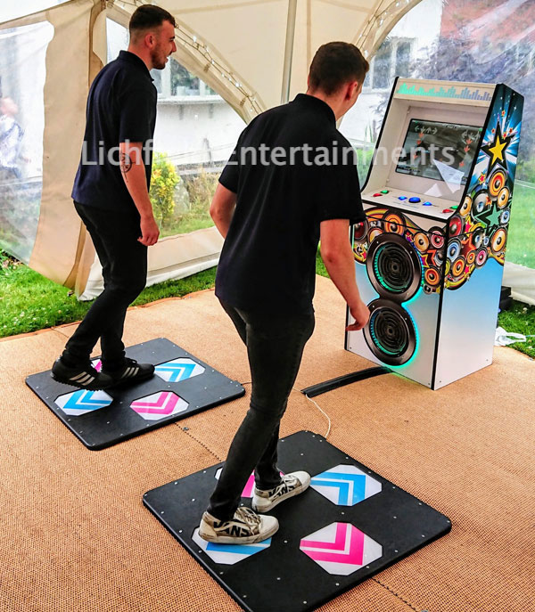 Two player Dance Machine hire in Birmingham an the Midlands area