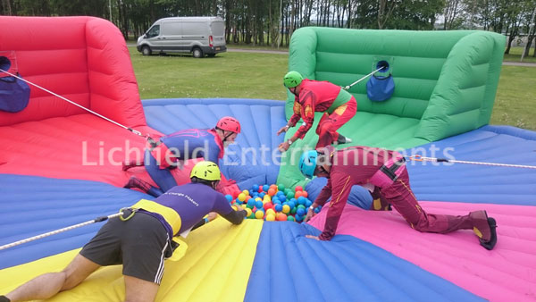 Company sports day games hire - Human Hungry Hippos.