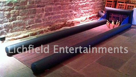 Inflatable Skittle Alley game for hire