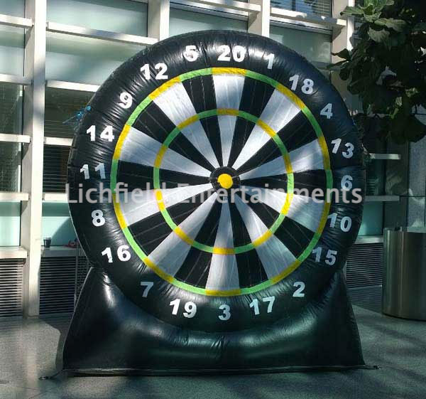 Giant Velcro Darts game for hire from Lichfield Entertainments UK
