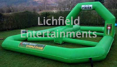 Company sports day games hire - Hopper Racing Track.