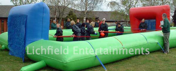 Human Table Football inflatable for hire