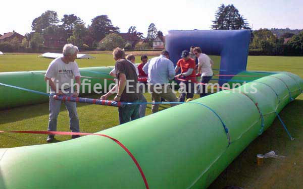 Inflatable Human Table Football hire for team building events