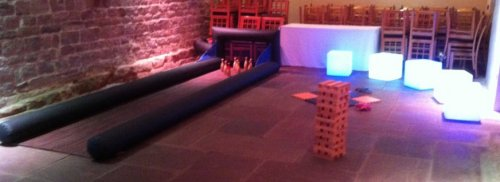 Inflatable Skittle Alley for hire from Lichfield Entertainments