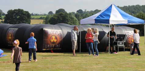 Mobile Laser Tag game for hire for corporate events, fun days, and parties