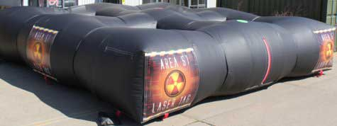 Inflatable Laser Tag game for hire
