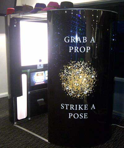 Party Photo Booth hire with black booth