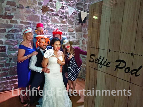 Compact Selfie Pod photo booth system for hire from LichEnts
