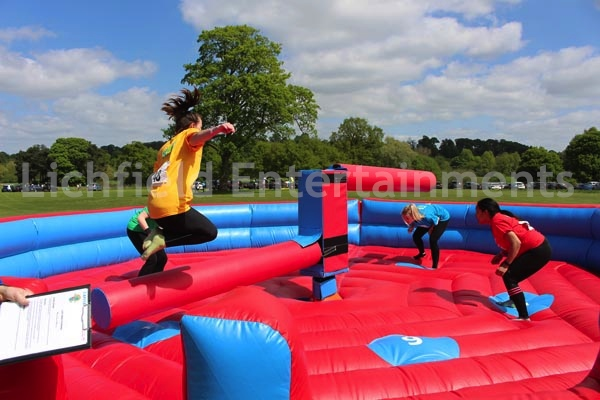 Company sports day games hire - Wipeout games.
