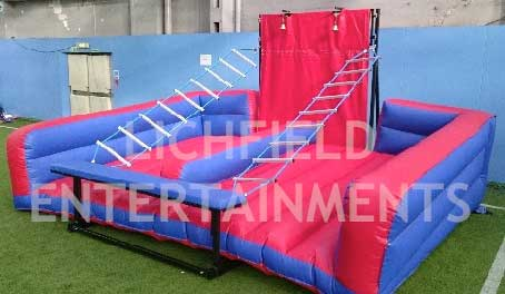 Unclimbable Ladder game for hire for corporate events, fun days, and parties