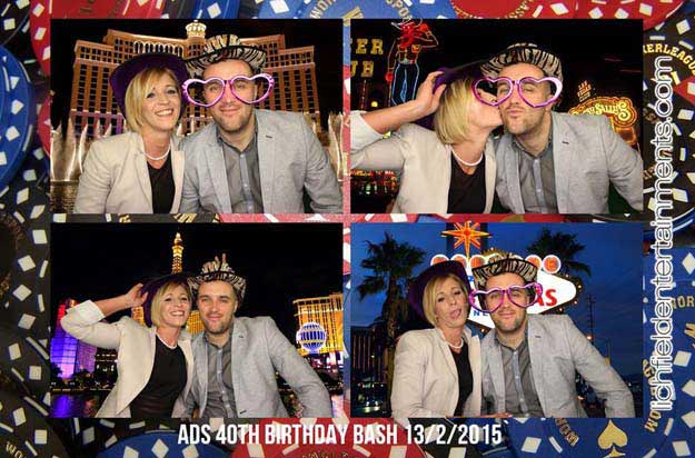 Vegas theme photo booth hire